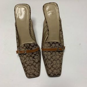 Coach Greta Authentic Mules 7.5